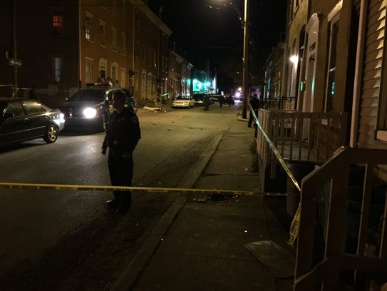 Scene of a shooting Tuesday evening at George and Maple