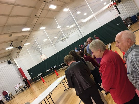 Lines have died down at Gypsy Hill Gym in Staunton,
