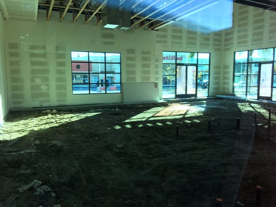 The unfinished interior of the new building in the