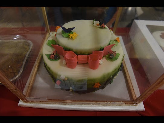 A cake entered into a previous auction from Zane State College included tuition assistance.