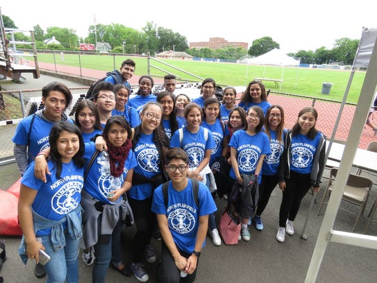 Interact Club members from North Plainfield High School