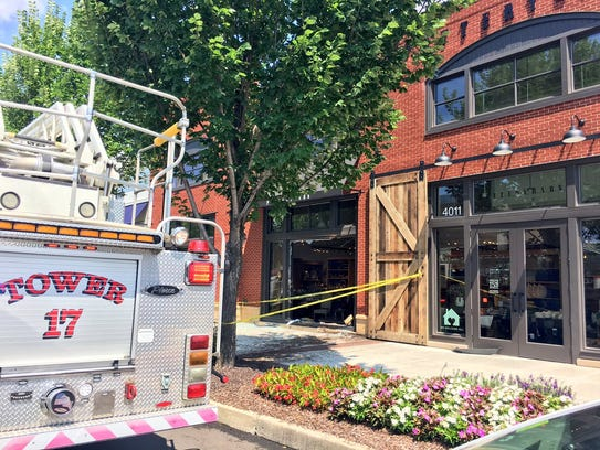 A vehicle crashed into a Pottery Barn on Hillsboro