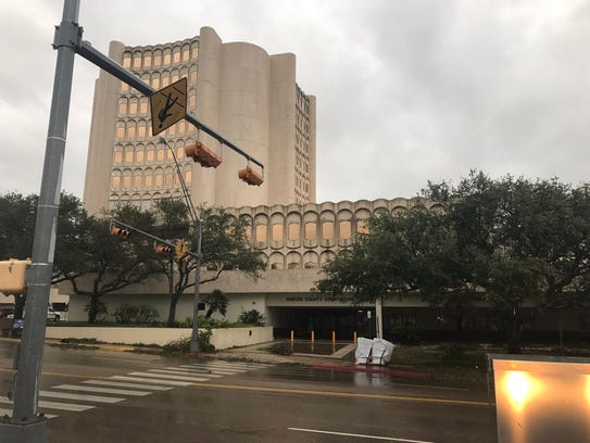 The Nueces County Courthouse.