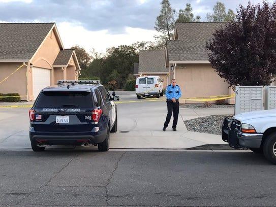 Police investigate a homicide at Heavenly Oak Lane