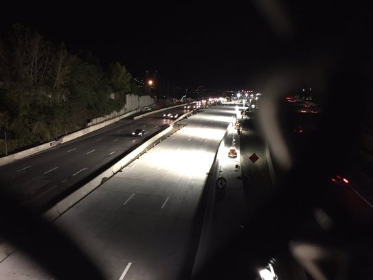 Interstate 287 as seen from the Interstate 287 overpass
