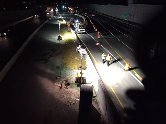 The view from atop the South Broadway overpass in South
