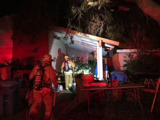 Ventura County firefighters responded to a house fire
