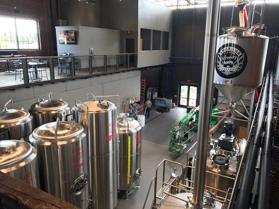 Where they make the brew. People were eager to sample it Tuesday at the soft opening of American Icon Brewery in Vero Beach