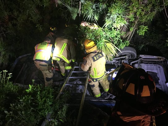 Brevard County Fire Rescue responded to a vehicle collision