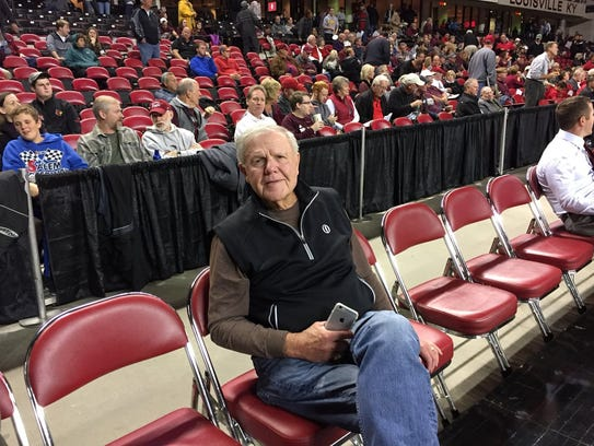 Former Louisville coach Denny Crum attended Wednesday's