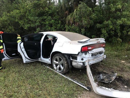A lone-vehicle crash shut down South St. NB in Titusville.