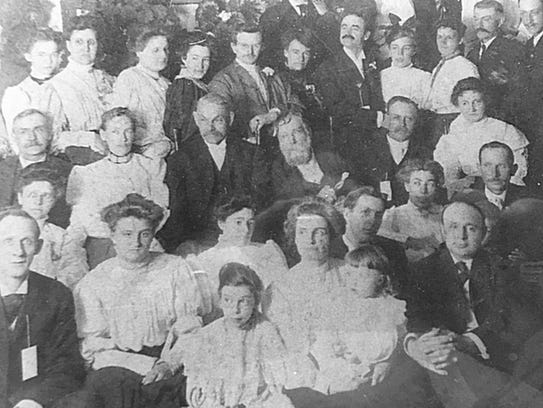 The Sandborn family gathers about 1905 with Elias Sandborn