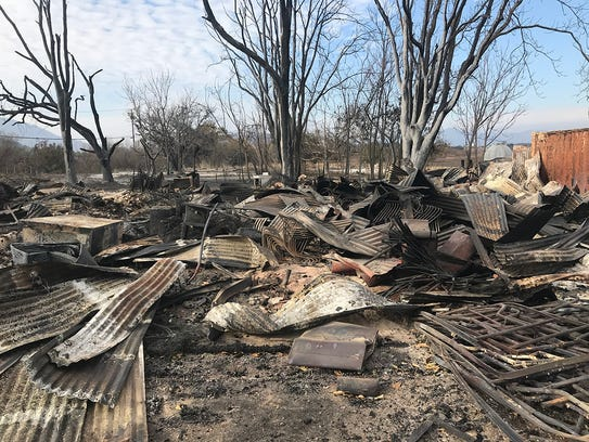 Besant Hill School in Ojai saw significant damage in
