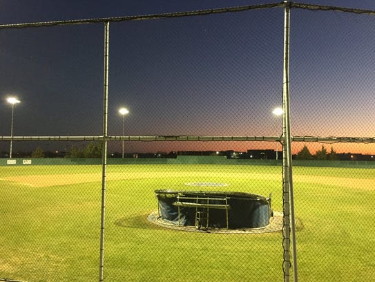 Lights were installed at Lake View Chiefs Field just