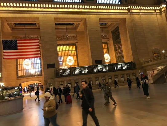 Grand Central Terminal is calm the morning of March