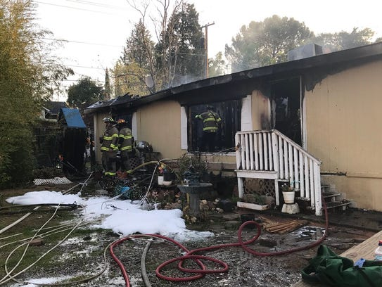 A fire in Shasta Lake gutted a residence on Montana