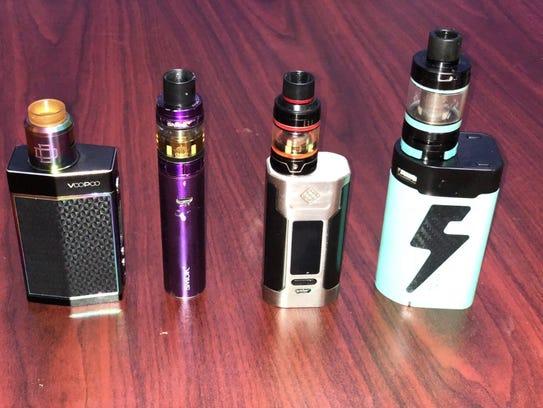"""These vape """"pens"""" contain batteries that fuel a vaporizer"""