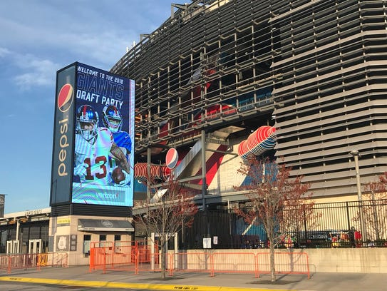 Giants draft party at MetLife Stadium on Thursday,