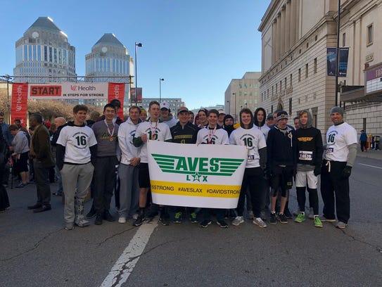 The Sycamore lacrosse team took part in the Heart Mini-Marathon