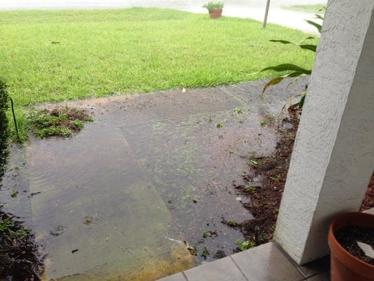 Heavy rain reported in Port St. Lucie May 16, 2018.