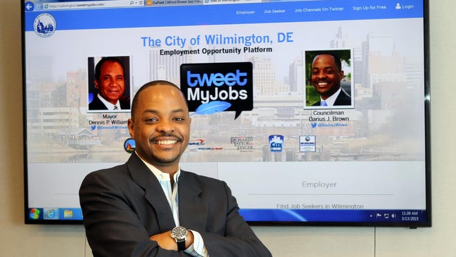 Wilmington City Councilman Darius Brown helped bring TweetMyJobs to Wilmington in January to connect job seekers with employers through social media.