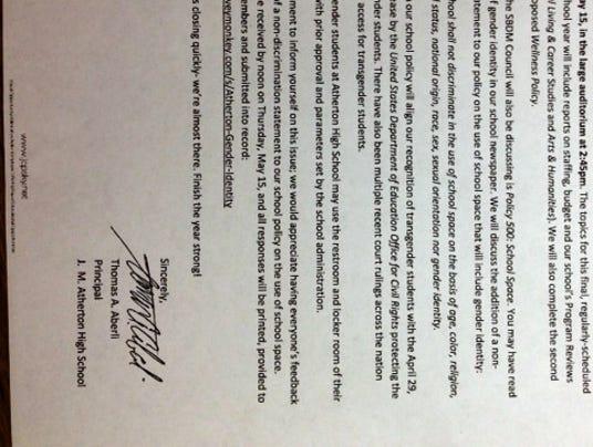 atherton letter