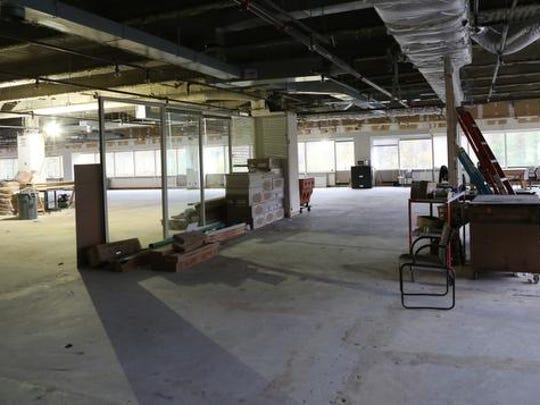 A view of the space at 450 Mamaroneck Ave. in Harrison that is being renovated for medical spaces.
