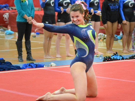 Whitefish Bay's Aly Yurkowitz holds the Division all-around record at the state gymnastics meet.