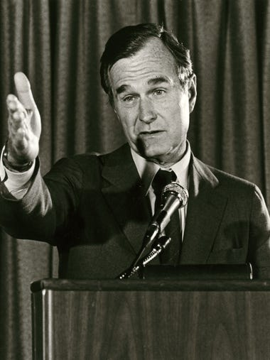 Former President and Vice President George H. W. Bush