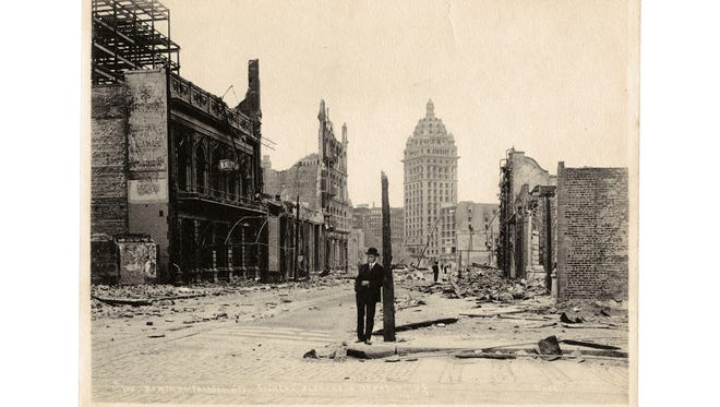 The 1906 earthquake and fire turned much of San Francisco into charred rubble.