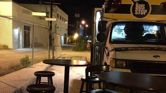 The Bus Stop and other food trucks will be parked in Food Truck Alley behind The Greenroom during the second Saturday ArtWalk in downtown Lafayette.