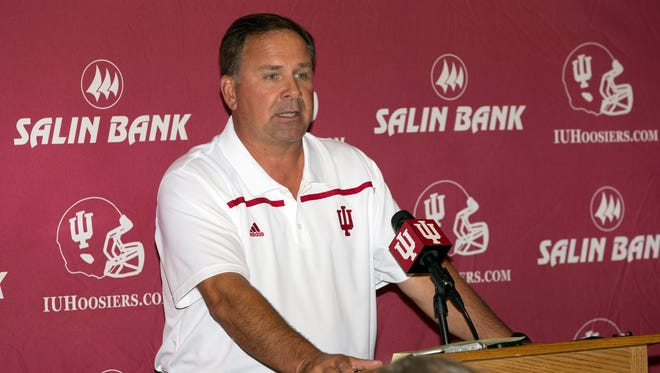 IU football head coach Kevin Wilson during the IU Football Media Day at Memorial Stadium at Bloomington, IN August 8, 2015.