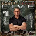 "Robert Irvine, host of ""Restaurant: Impossible"" on Food Network, will bring his stage show to Nashville on March 27."
