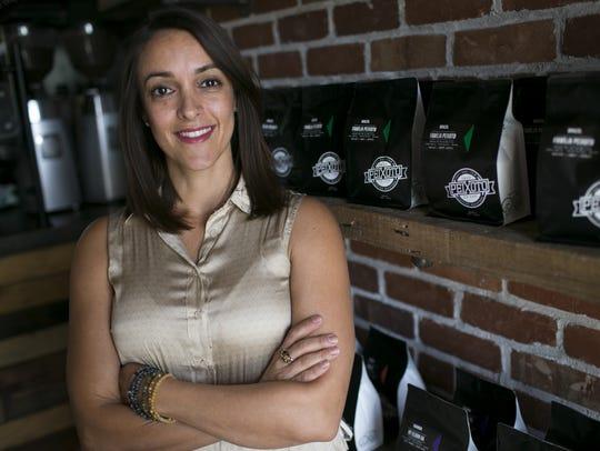 Julia Peixoto Peters, the co-owner of Peixoto Coffee
