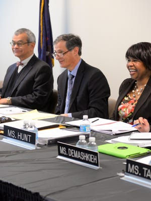 Agustin Arbulu, far left, is seen with fellow Michigan Civil Rights Commission members Arthur Horwitz, Deloris Hunt, and Rasha Demashkieh, in this January 2015 LSJ file photo. Arbulu was chosen to be the Michigan Department of Civil Rights new executive director.