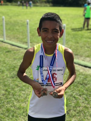 Bernardo Barnhart Jr. is quickly becoming one of the best young cross country runners in the country. The 12-year-old from Ave Maria recently competed in the national Junior Olympic cross country championships in Tallahassee, where he finished 67th out of 429 runners in the U12 division.