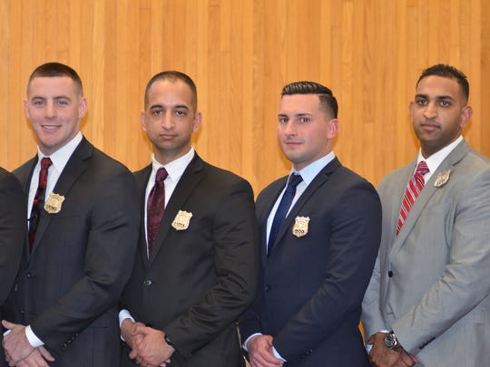 New members of the Edison Police Department.