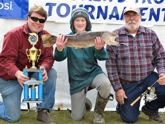 The winner of the 2018 Spring Lake Kid's Trout Contest