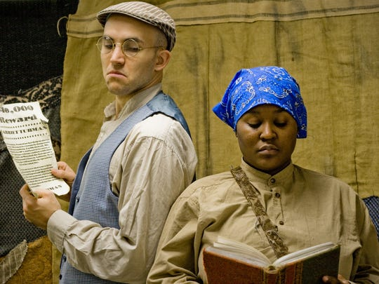 In a scene from the play, a pro-slavery Southerner