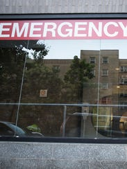 The emergency entrance at Mount Sinai Medical Center