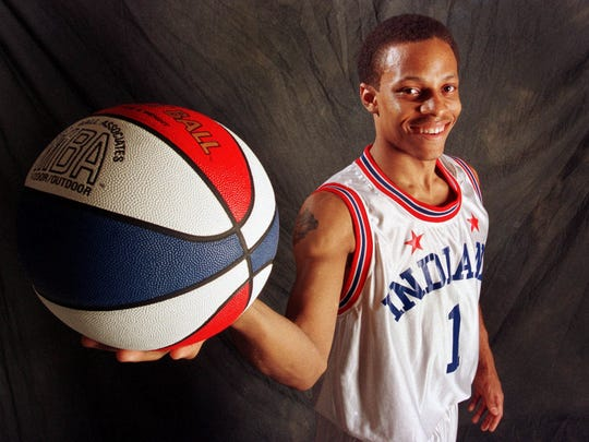 North Central's Jason Gardner shown in Indianapolis Friday April 9 1999 has been named Indiana's Mr. Basketball for 1999.