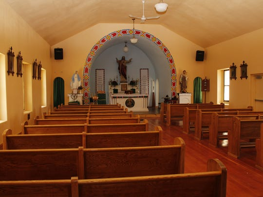 St. Paul's Mission Church in Hays, Montana, July 17, 2017.