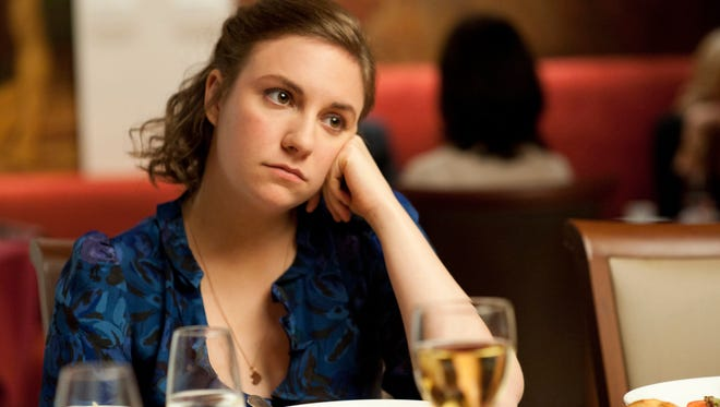 """Lena Dunham, is shown in a scene from the HBO series, """"Girls."""""""