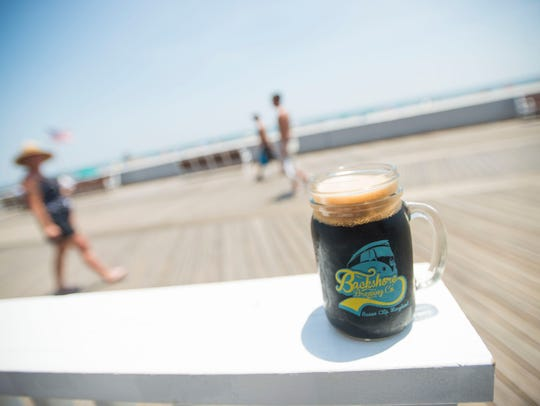 """Backshore Brewing Company's """"Stout at the Devil"""" brew."""