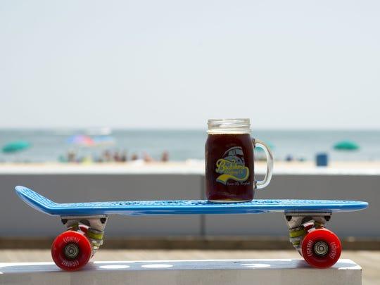 "Backshore Brewing Company's ""Alpha-Lima-Echo"" amber brew."