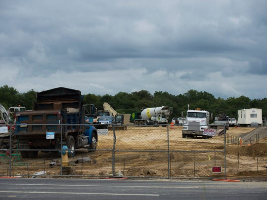 Construction continues at a site on Route 41 by the entrance to Route 42 in Deptford.