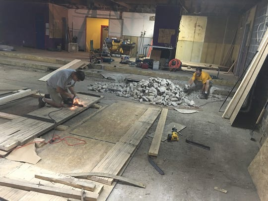 Construction of Batter's Alley
