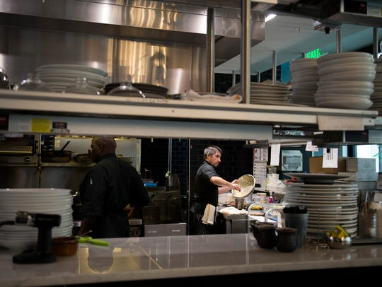 A look inside the kitchen at Maison 208 in Philadelphia.