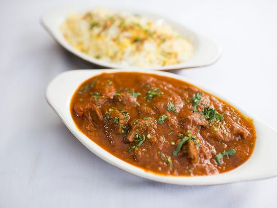 Lamb Rogan Josh from Aroma Indian Bistro in Merchantville. The restaurant's menu offers an entire section devoted to goat, lamb and mutton dishes.