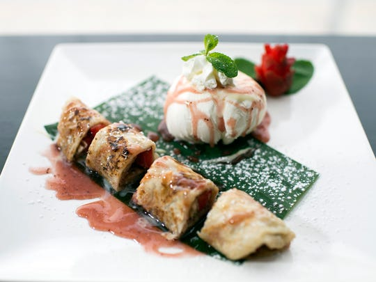 Spring comes early in the form of Strawberry Roti with ice cream from Pinto Thong Thai Cuisine in Deptford.